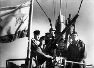 Краснознаменный военно-морской флаг ПЛ Щ-209.