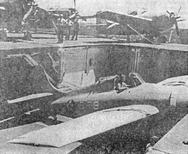F4F «Wildcat» на подъемнике авианосца «Saratoga». Весна 1941г.