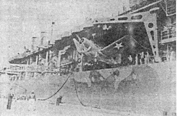 Выгрузка SB2U «Vindicator» c «Ranger» 24 августа 1942r.