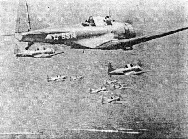 Группа SBD над «Enterprise», 17 октября 1941г.