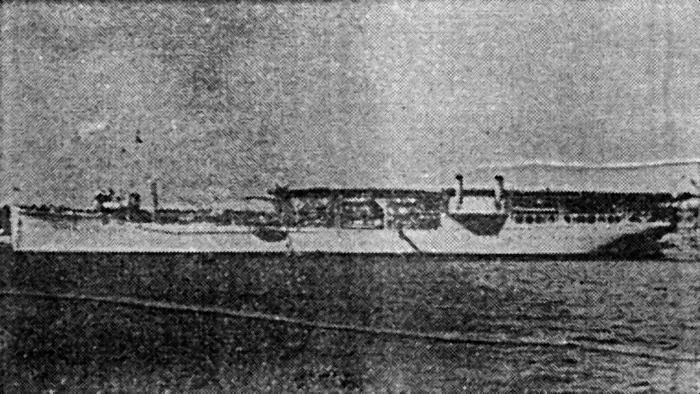 «Langley» с укороченной полетной палубой, переоборудованный в гидроавианосец