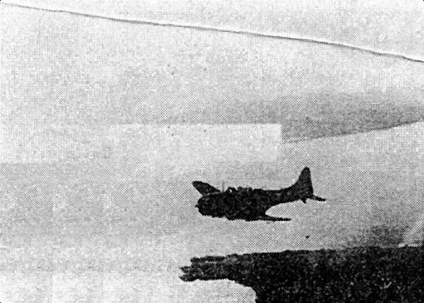 Самолеты с «Ranger» 4 октября 1943г. над гаванью Вуда