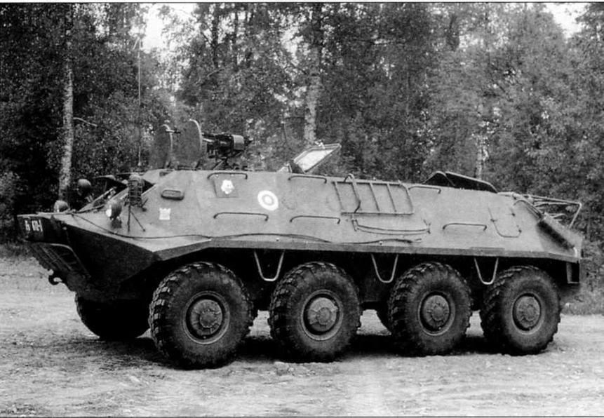 Бронетранспортер БТР-60ПА финской армии. Осень 1981 года