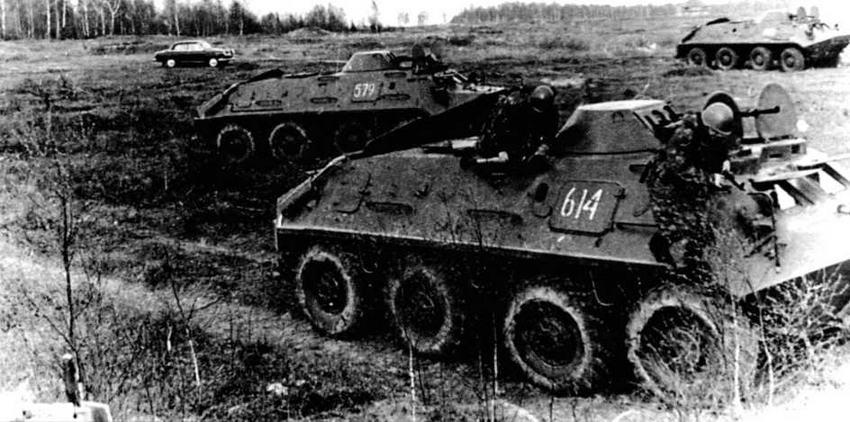 БТР-60ПБ на тактических занятиях. Конец 1960-х годов