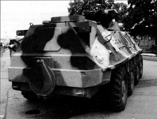 Этот вариант модернизации бронетранспортера БТР-60ПБ, демонстрировавшийся на выставке МВСВ-2006 в Москве, предложен ОАО «Муромтепловоз». На машине установлен дизельный двигатель ЯМЗ-236А мощностью 195 л.с. Из-за размещения двигателя больших габаритов пришлось нарастить объем МТО