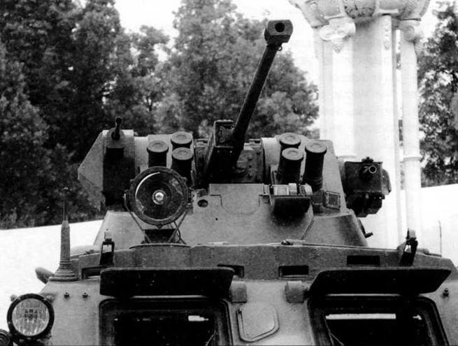 Боевой модуль, использованный на этой машине, в целом подобен таковому у БТР-80А. В нем размещены: 30-мм автоматическая пушка 2А42, 7,62-мм пулемет ПКТМ и 30-мм автоматический гранатомет АГ-17