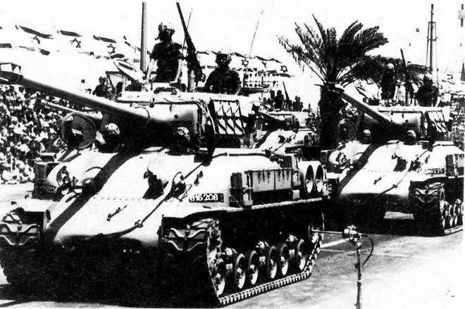 Модернизированные танки M51HV Isherman. Израиль, 1965 год.
