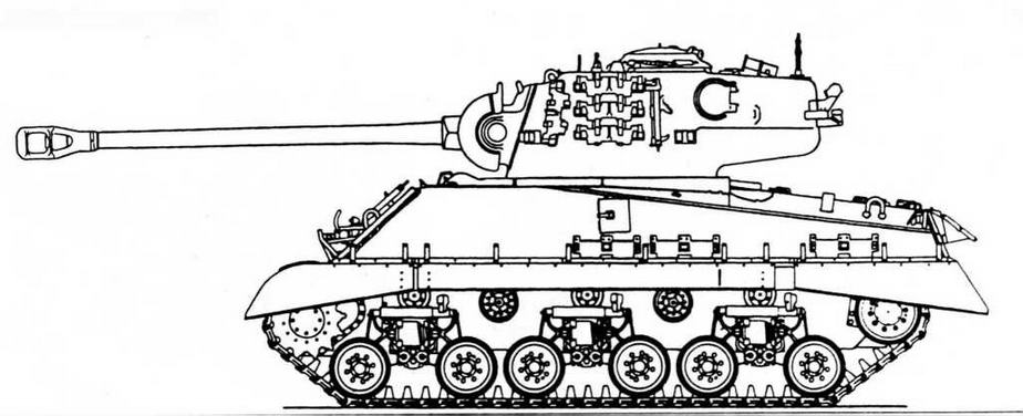 М4А3 с башней танка М26