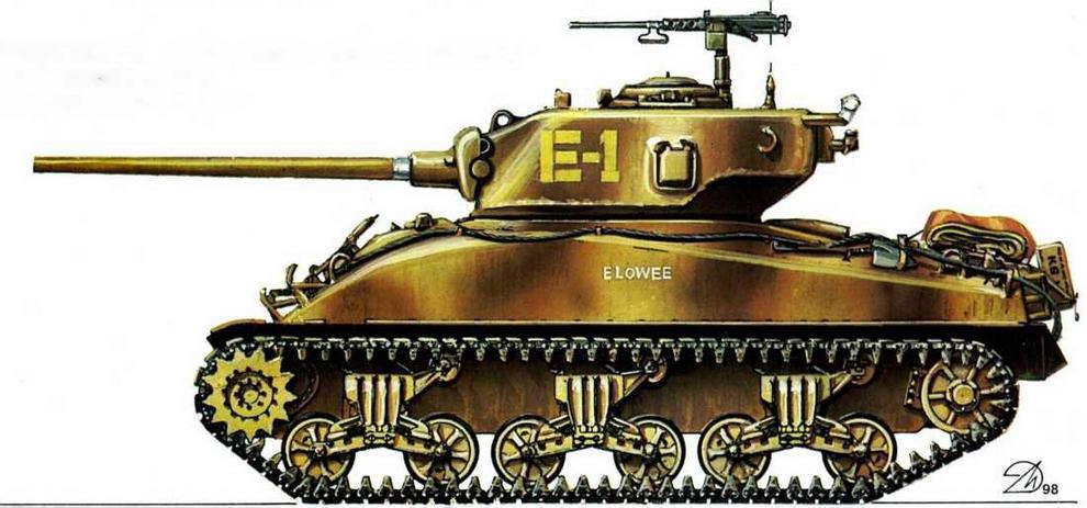 М4А1 (76)W. 2-я американская танковая дивизия (2nd Armored Division), Нормандия, июль 1944 г.