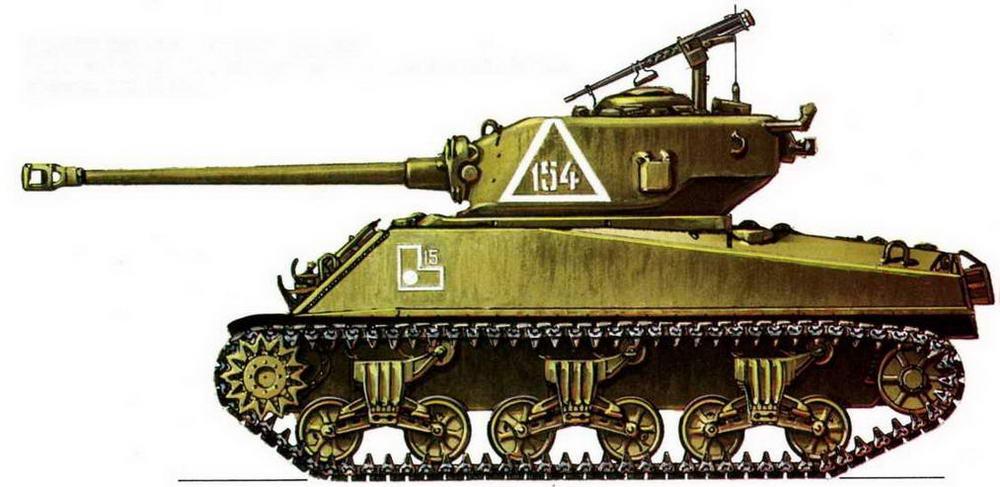 M4A2(76)W. 219-я танковая бригада. 1-й гвардейский механизированный корпус Красной Армии, Берлин, май 1945 г.