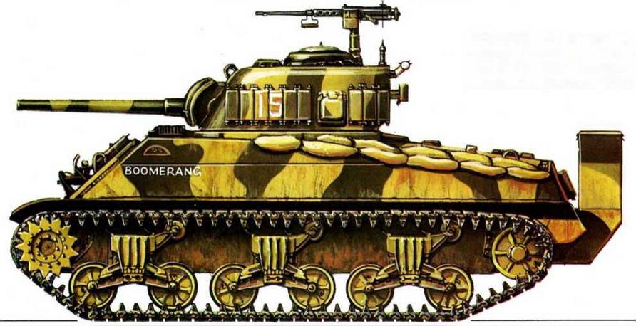 M4A2(W). 4-й танковый батальон Корпуса морской пехоты США (US Marine 4th Tank Battalion), Иводзима, февраль 1945 г.