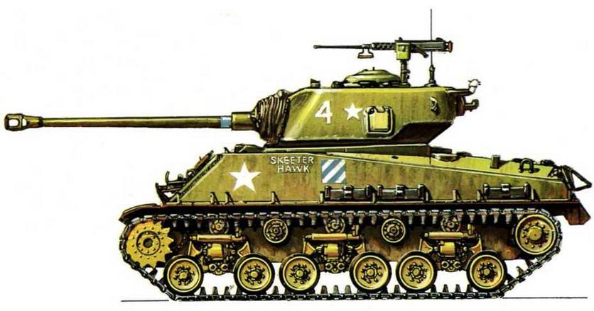 М4А3Е8. 64-й американский танковый батальон (64th Tank Battalion), Корея, февраль 1951 г.