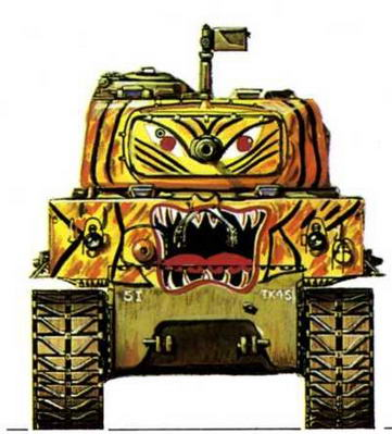 М4А3Е8. 5-я пехотная танковая рота, 24-я американская пехотная дивизия (5th Infantry Tank Со., 24th Infantry Division), Корея, февраль 1951 г.