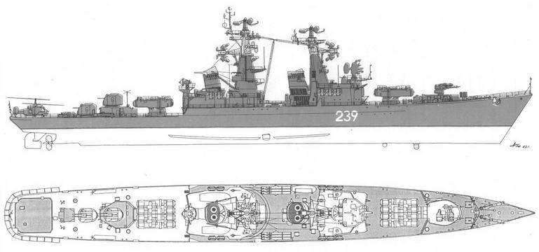 Ракетные крейсера типа Грозный пр. 58 – 4 (2)