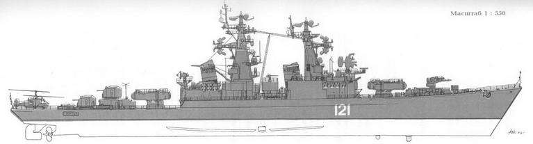 РКР Грозный после модернизации ( август 1983 г.)