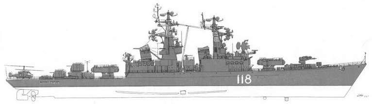 РКР Адмирал Головко по состоянию на 1996 г.