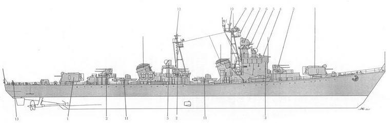 Схема общего вида ЭМ пр. 56 в соответствии с техническим проектом: