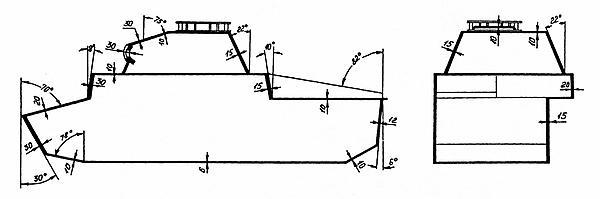 Схема бронирования лёгкого танка Pz.II.