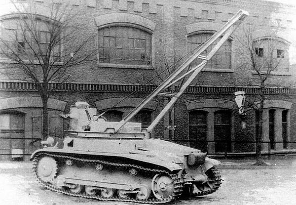 БРЭМ на базе танка Pz.II ранних выпусков.