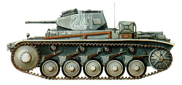 Pz.II Ausf.C. 5-я лёгкая дивизия Германского африканского корпуса (5.Leichte Division, Deutsche Afrika Korps). Ливия, февраль 1941г.