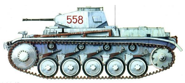Pz.II Ausf.F. Моторизованная дивизия CC «Лейбштандарт CC Адольф Гитлер» (SS Pz.Gren-Division «Leibstandarte SS Adolf Hitler»). Восточный фронт, район Харькова, январь — февраль 1943г.