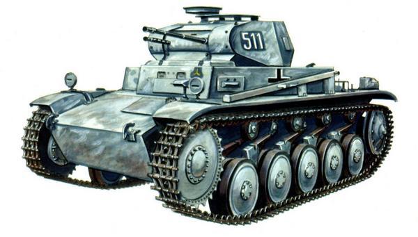 Pz.II Ausf.C. 2-й танковый батальон 1-й танковой дивизии (Pz.Abt.2, 1.Panzer Division). Восточный фронт, декабрь 1941г.