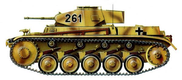 Pz.II Ausf.F. 90-я моторизованная дивизия (90. Pz.Gren-Division). Италия, май 1944г.
