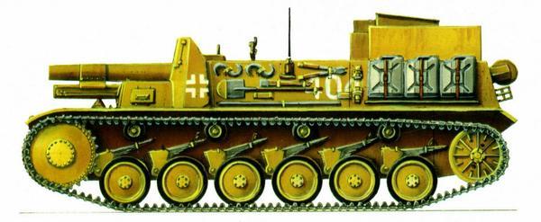 SturmpanzerII. 707-я рота тяжёлых пехотных орудий (707.s.l.G.Kp.). Северная Африка, июль 1942г.