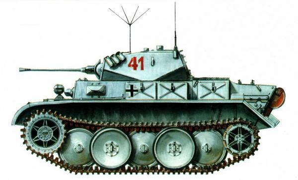 Pz.II Ausf.L Luchs. 4-й разведывательный батальон 4-й танковой дивизии (Aufkl.Abt.4, 4.Panzer Division). Восточный фронт, зима 1944г.