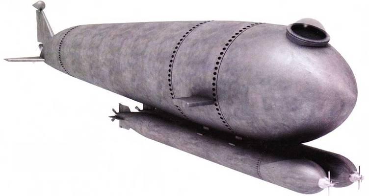 Германские человеко-торпеды (рисунки)
