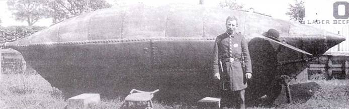 Американская подводная лодка Pioneer (ок. 1880г.).