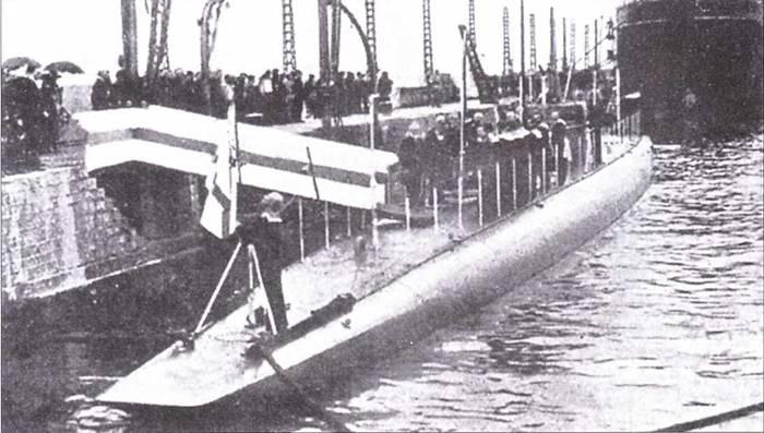 Российская подводная лодка Святой Георгий, 1917г.