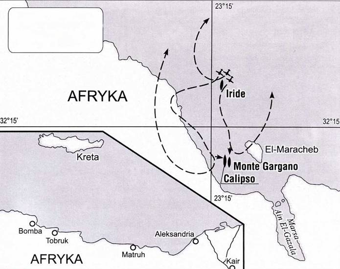 Гибель лодки Iride и штабного корабля Monte Gargano, 22 августа 1940 года.