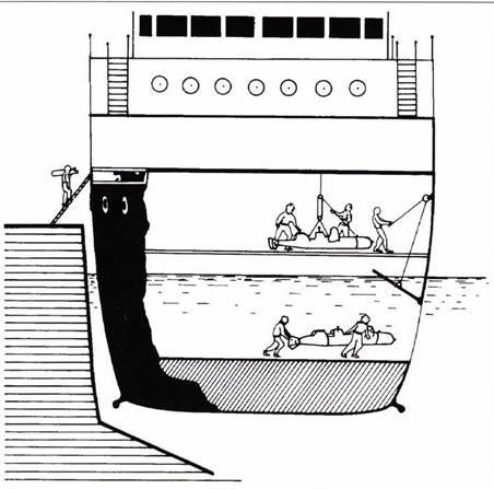База управляемых торпед на борту корабля Olterra.