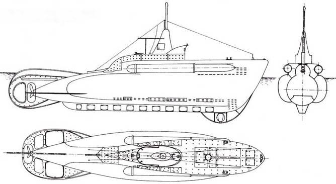 Итальянская сверхмалая подводная лодка «тип СВ», 1941г.