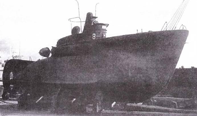 Итальянская сверхмалая подводная лодка СВ-8, 1943г.