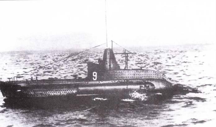 Итальянская сверхмалая подводная лодка СВ-9, 1941г.