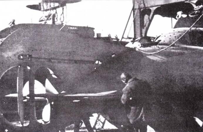 Кормовая часть итальянской подводной лодки «тип СВ».