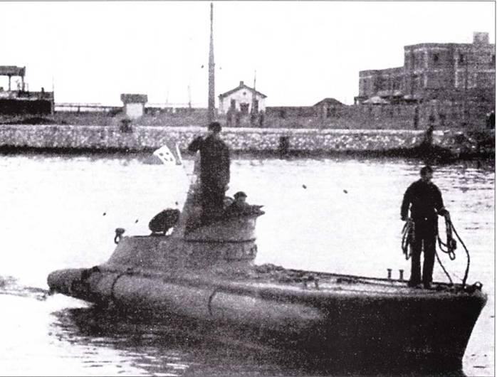 Итальянская сверхмалая подводная лодка «тип СВ» в Констанце.