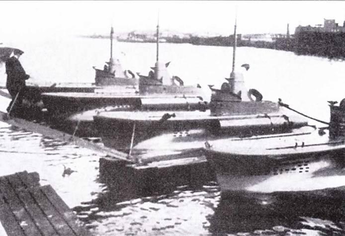 Подводные лодки «тип СВ» в Констанце.