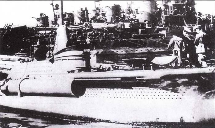 Итальянская сверхмалая подводная лодка СВ-10 в Таренто, август 1943г.