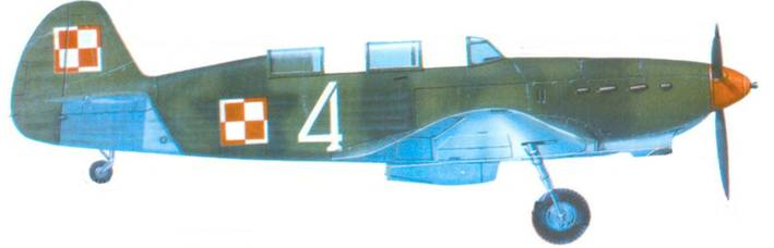 Як-7Б польских ВВС. вторая половина сороковых годов.