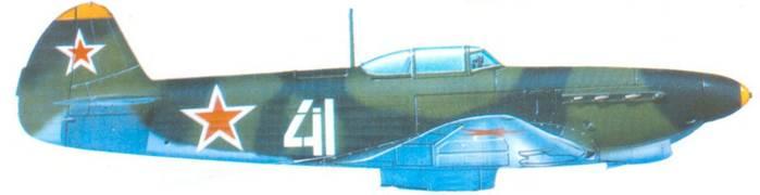 Як-7Д. 1943 год. в типичной окраске этого периода.