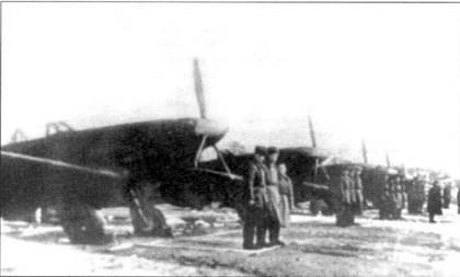 Линейка истребителей Як-1 из 122-й дивизии ПВО.