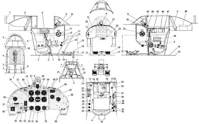 Кабина самолета Як-1