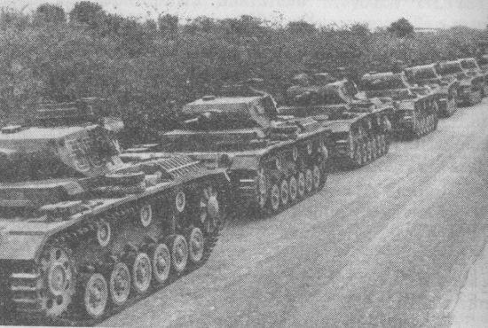 Танки Pz.III Ausf.G 5-го танкового полка 5-й лёгкой дивизии перед отправкой в Северную Африку. 1941 год.