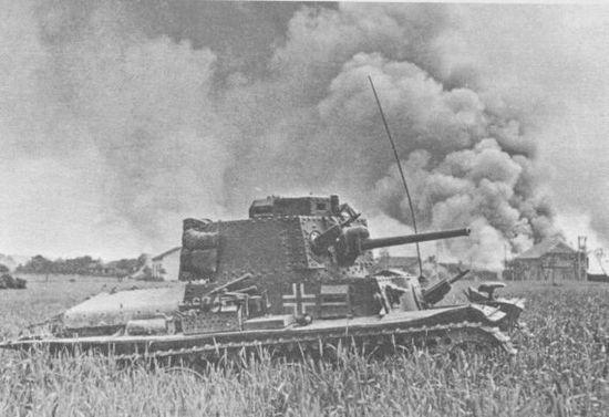 Танк Pz.38(t) Ausf.B из состава 10-го танкового полка 8-й танковой дивизии. Франция, 1940 год.
