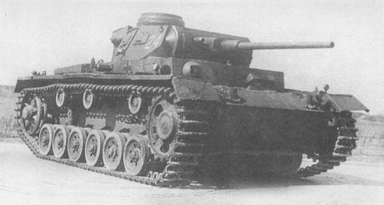 Pz.III Ausf.J с длинноствольной 50-мм пушкой во время испытаний на НИБТПолигоне в Кубинке под Москвой. 1946 год.