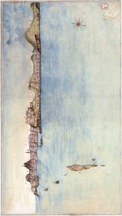 Вид Корфу, выполненный в феврале 1799г. историографом флота на эскадре вице-адмирала Ф. Ф. Ушакова капитан-лейтенантам С.М. Телесницким.
