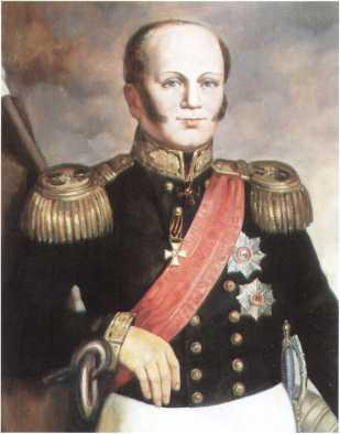 Адмирал Дмитрий Николаевич Сенявин. Потрет кисти М.И. Дромметер. 1930-е гг. (ЦВММ).